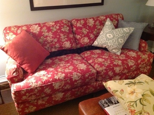 Fashionable What Fabric Patterns Go With A Floral Chintz With Deep Red Background? For Chintz Floral Sofas (View 5 of 10)