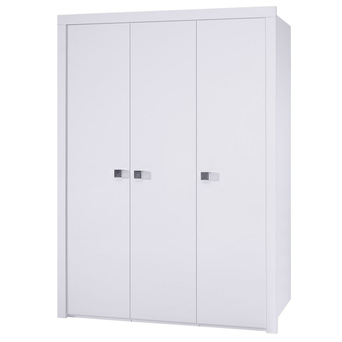15 collection of white three door wardrobes. Black Bedroom Furniture Sets. Home Design Ideas