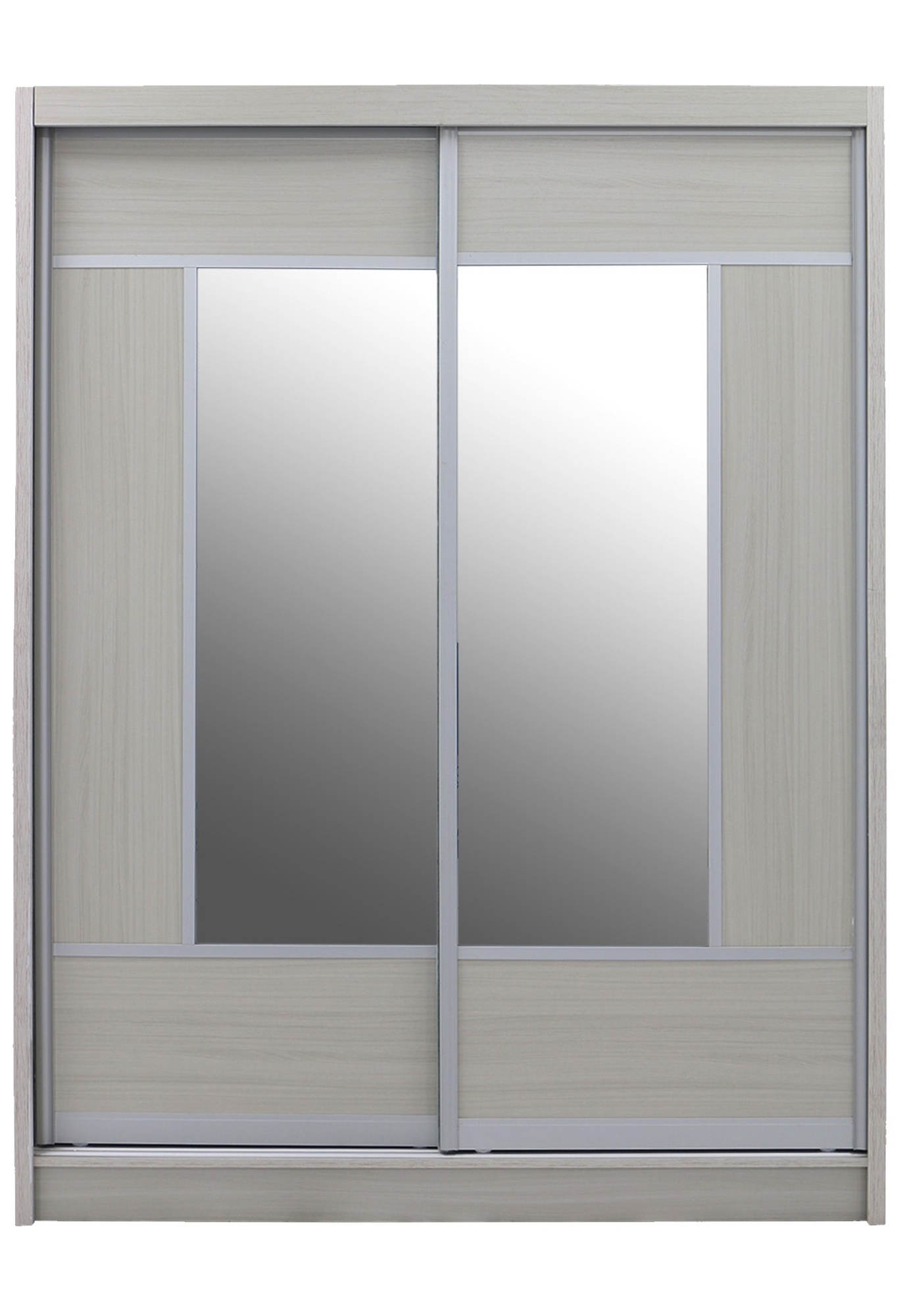 Fashionable Whitewash Wardrobes Regarding Alfred Sliding Door Wardrobe 5Ft White Wash (View 2 of 15)