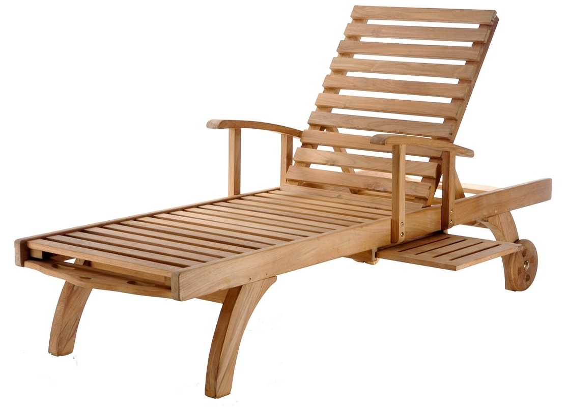 Fashionable Wood Chaise Lounges Throughout Chicteak Bahama Teak Chaise Lounge & Reviews (View 2 of 15)