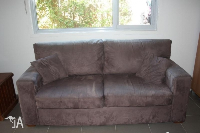Faux Suede Sofas Intended For 2017 Fantastic Furniture Brown Faux Suede Sofa For Sale In Ermington (View 4 of 10)