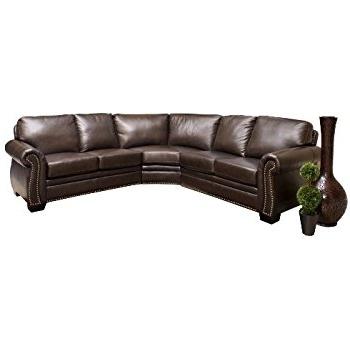 Favorite Abbyson Sectional Sofas Regarding Amazon: Abbyson Berkshire Italian Leather Sectional Sofa: Home (View 10 of 15)