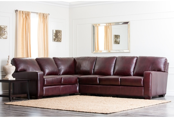 Favorite Abbyson Sectional Sofas With Abbyson Living Havana Premium Hand Rubbed Leather Sectional Sofa (View 9 of 15)