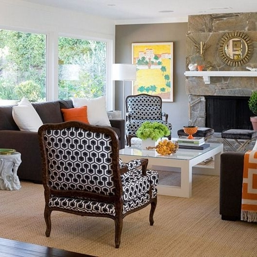 Favorite Accent Sofa Chairs Regarding 9 Stunning Ways To Use A Brown Sofa (View 8 of 15)