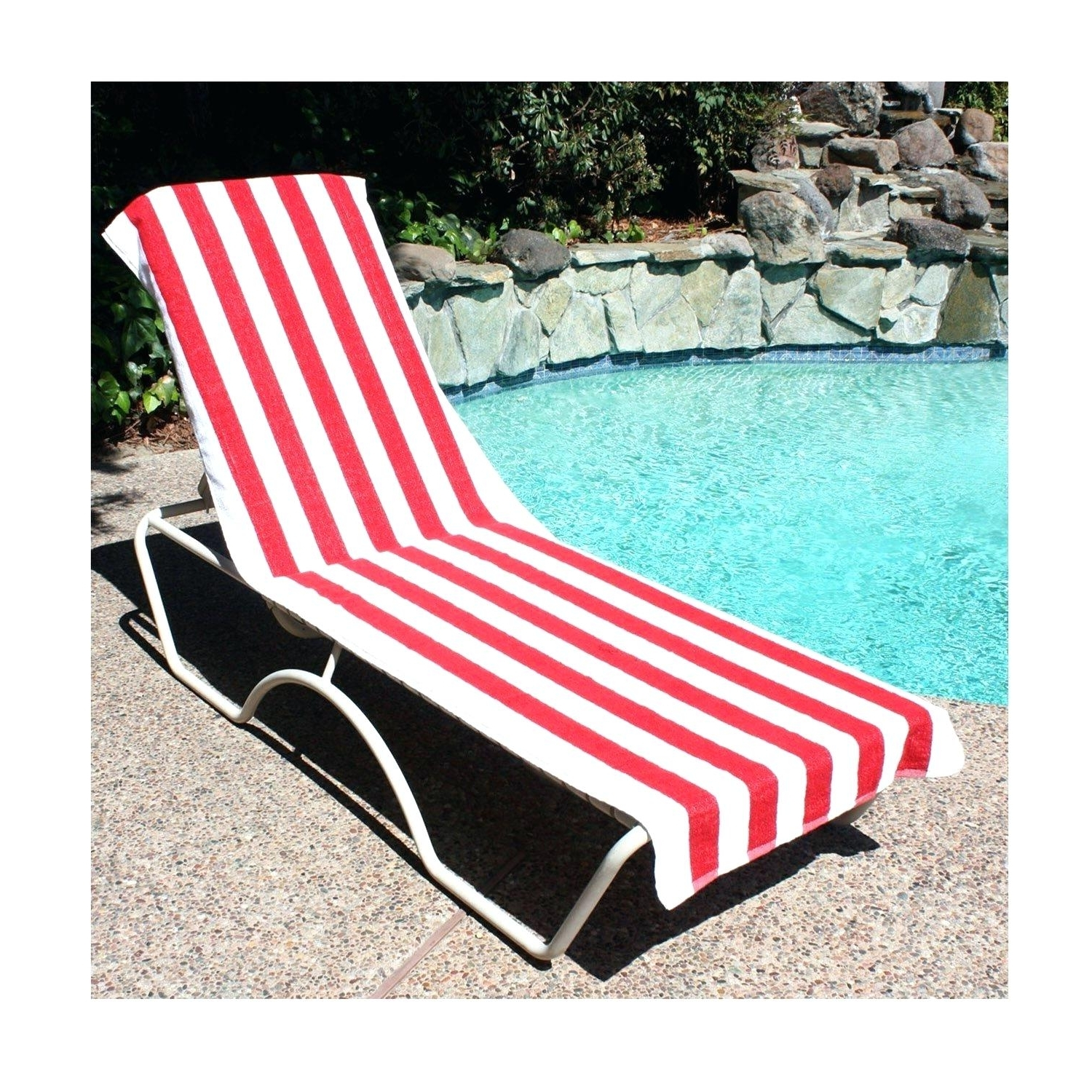 Favorite Beach Chair Covers Towel Lounge Terry Cloth – Biophilessurf Regarding Chaise Lounge Towel Covers (View 11 of 15)