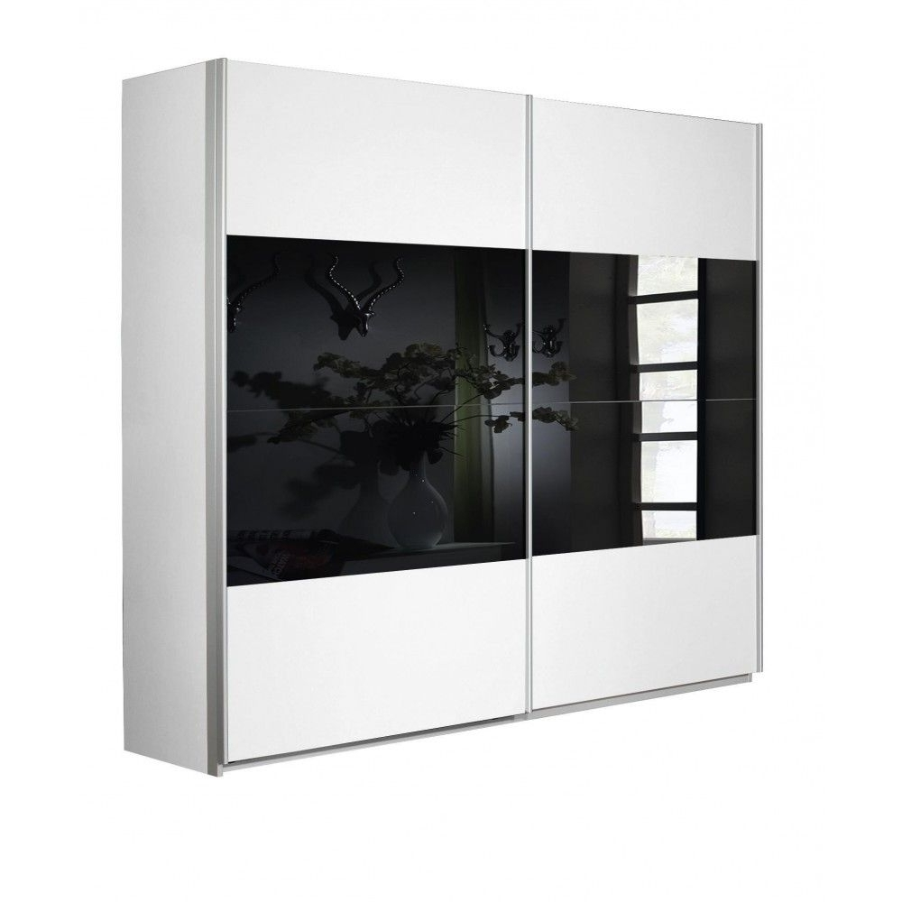 Favorite Black And White Wardrobes Set Throughout Astonishing Berlin Door Corner Wardrobe Set High Gloss Black And (View 11 of 15)