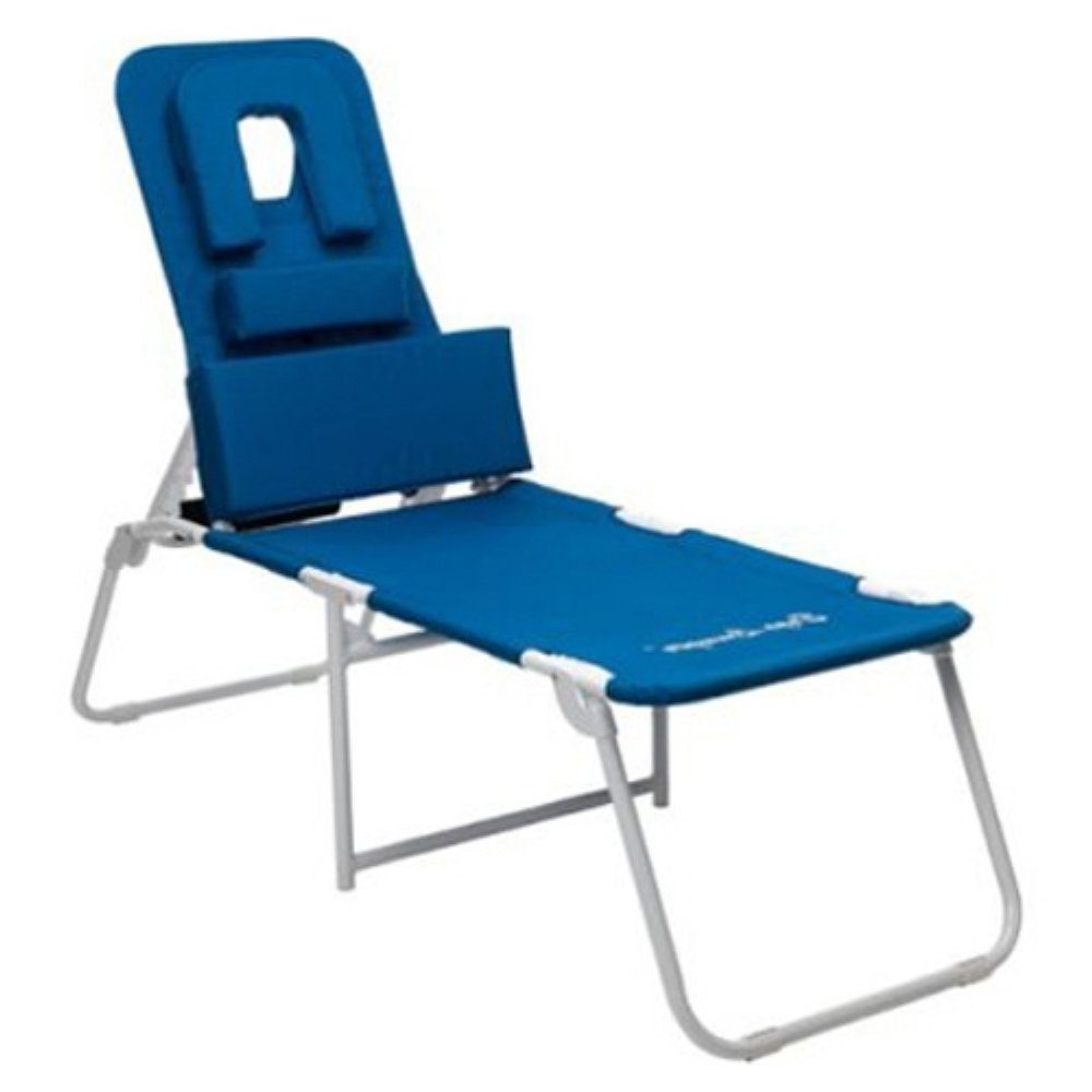 Favorite Chaise Lounge Chairs With Face Hole Throughout Amazon: Marstone Ergolounger Oh Beach Chaise Lounge: Kitchen (View 9 of 15)