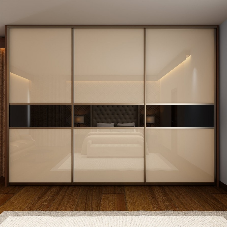 Favorite Cream Rivayu Sliding Wardrobe Abesquare Furnish Pvt Ltd In Cream Wardrobes (View 6 of 15)