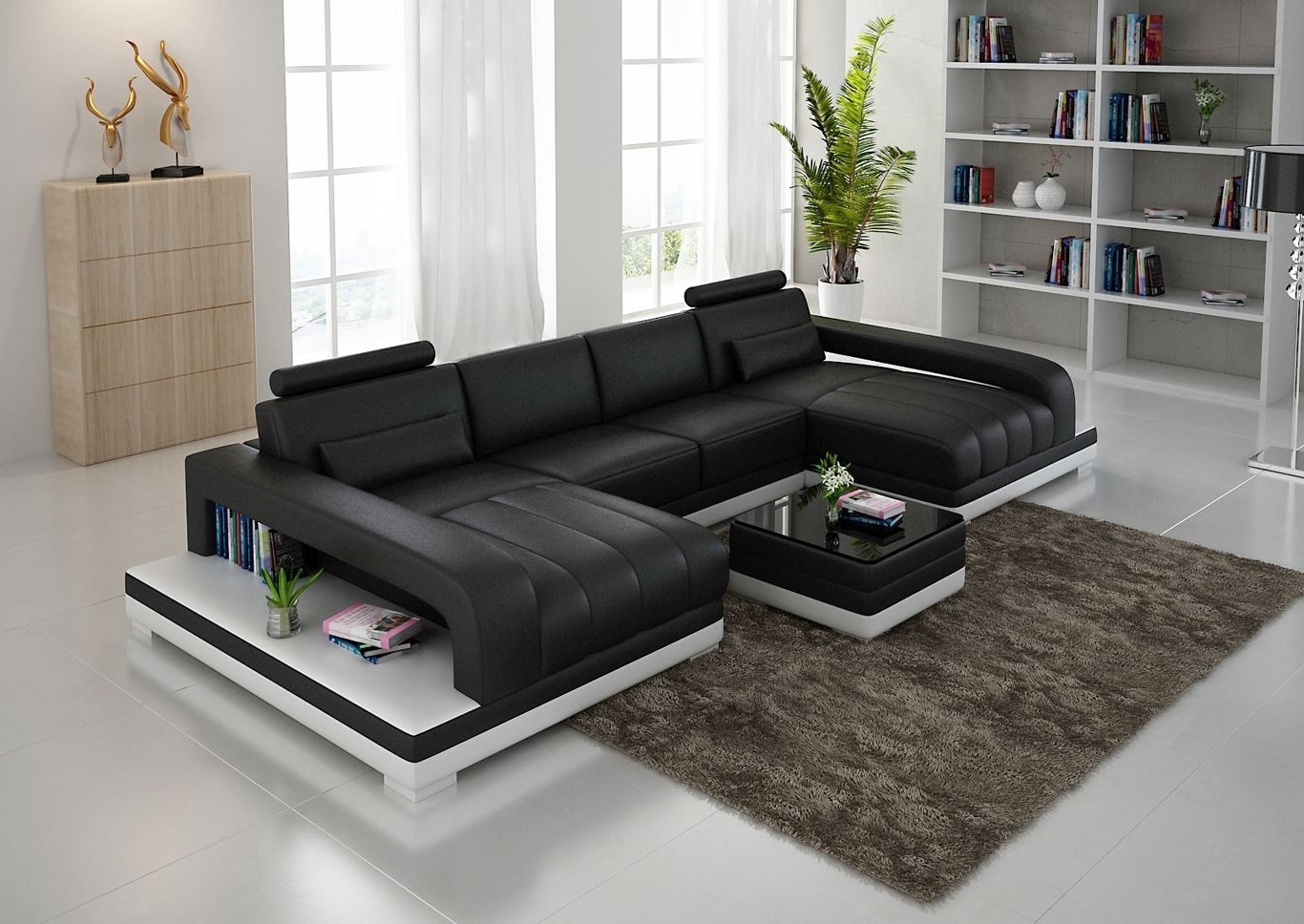Favorite Dual Chaise Sectionals In Double Chaise Sectional Sofas: Type And Finishing (View 4 of 15)