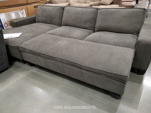 Favorite Fabric Chaise Sofa With Storage Ottoman Throughout Sofas With Chaise And Ottoman (View 4 of 10)