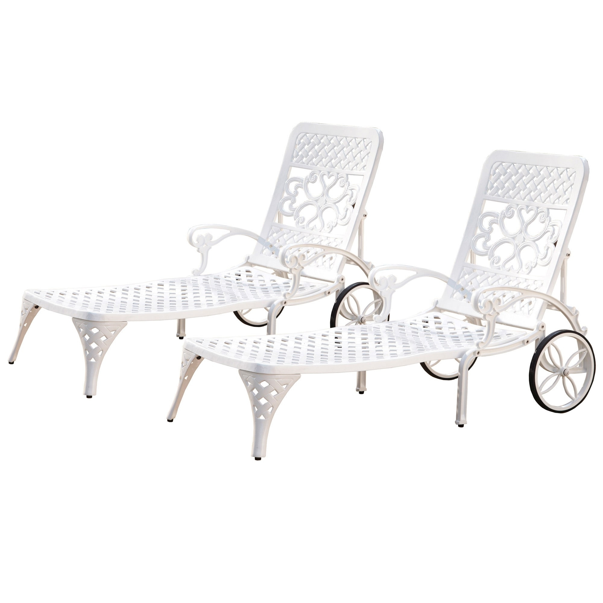 Favorite Gracewood Hollow Rasmussen Chaise Lounge Chairs (Set Of 2) – Free For Overstock Outdoor Chaise Lounge Chairs (View 12 of 15)