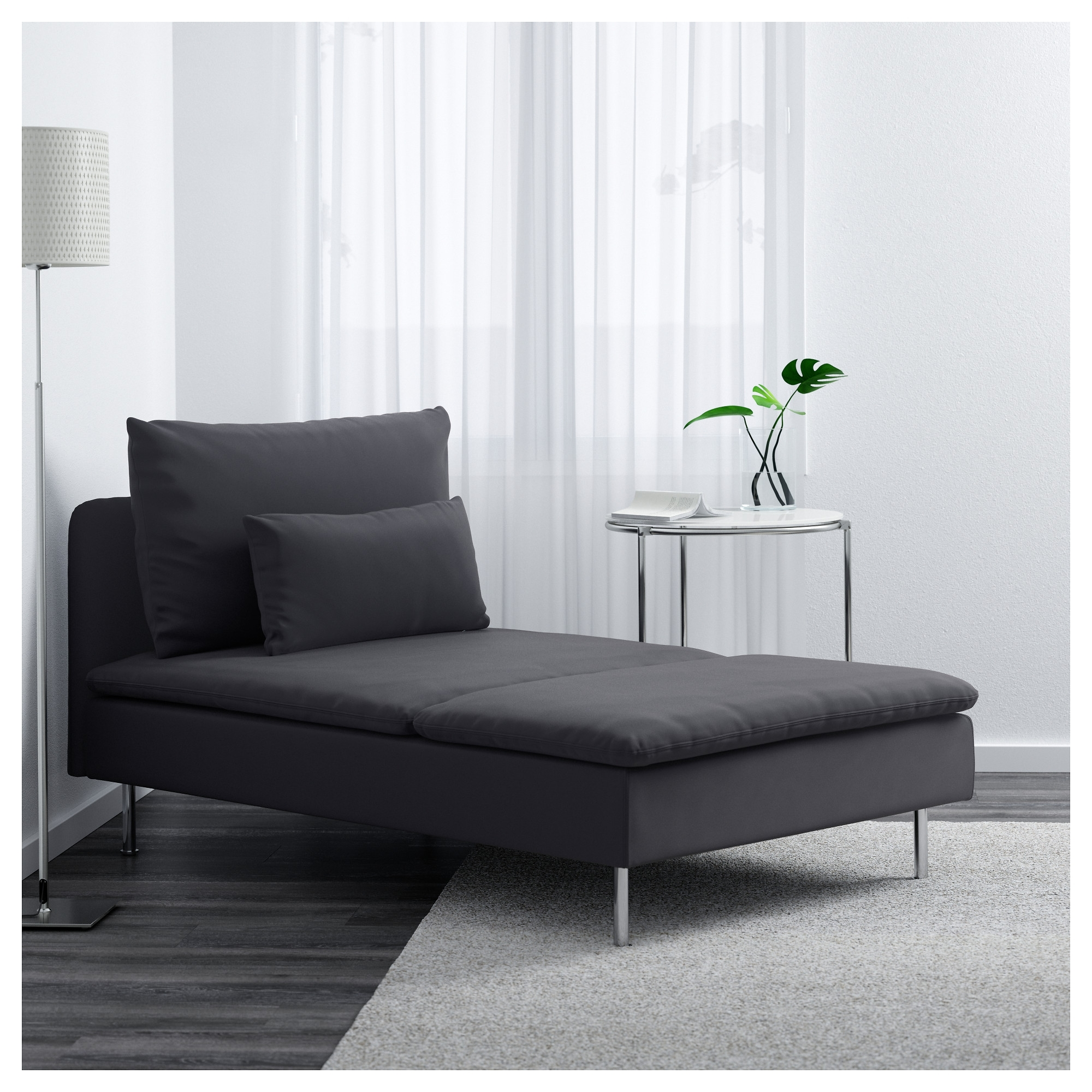 Favorite Gray Chaises Intended For Söderhamn Chaise – Samsta Dark Gray – Ikea (View 6 of 15)