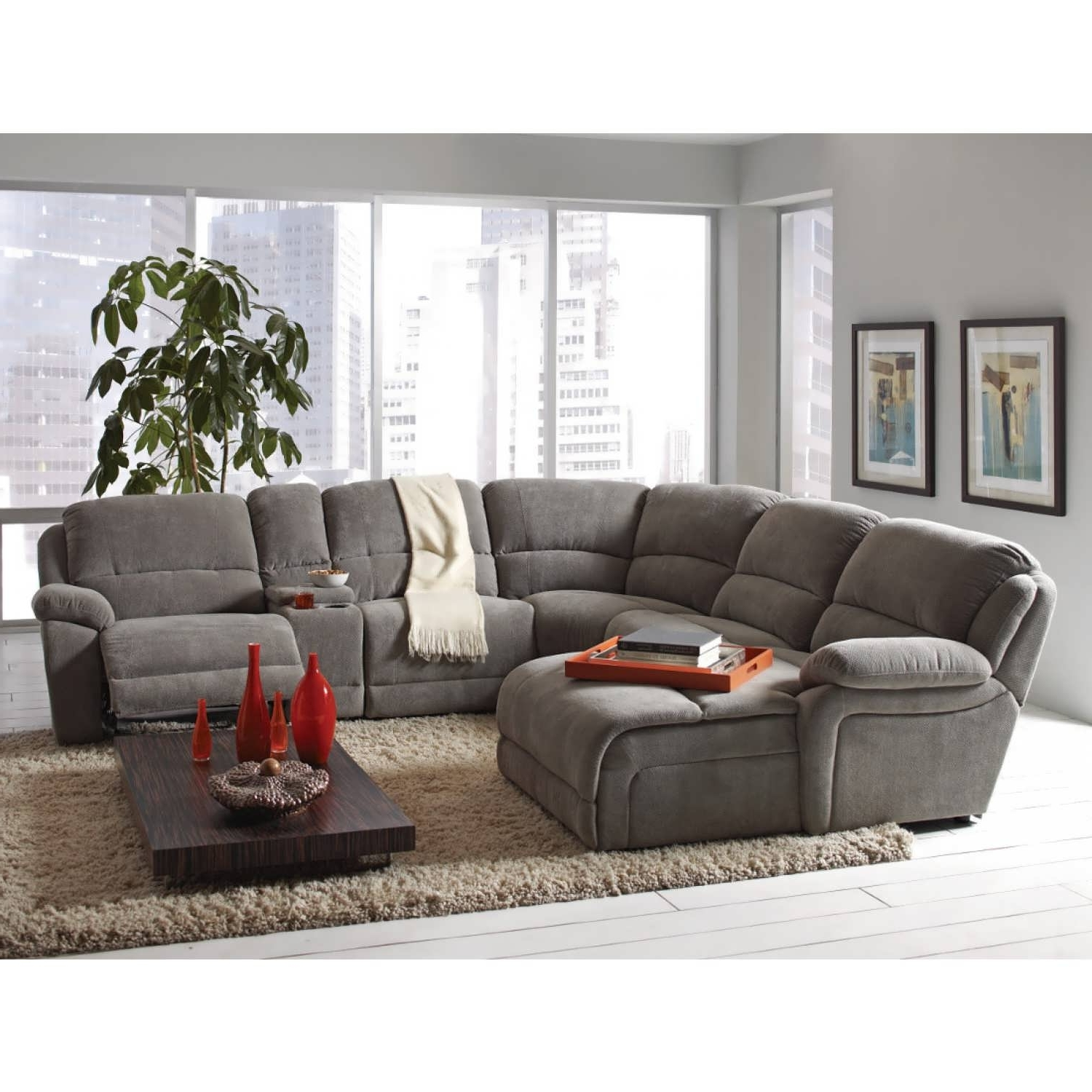 Favorite Grey Chaise Sectionals With Sofa : Small Sectional Sofa Grey Corner Couch Oversized Sectionals (View 4 of 15)