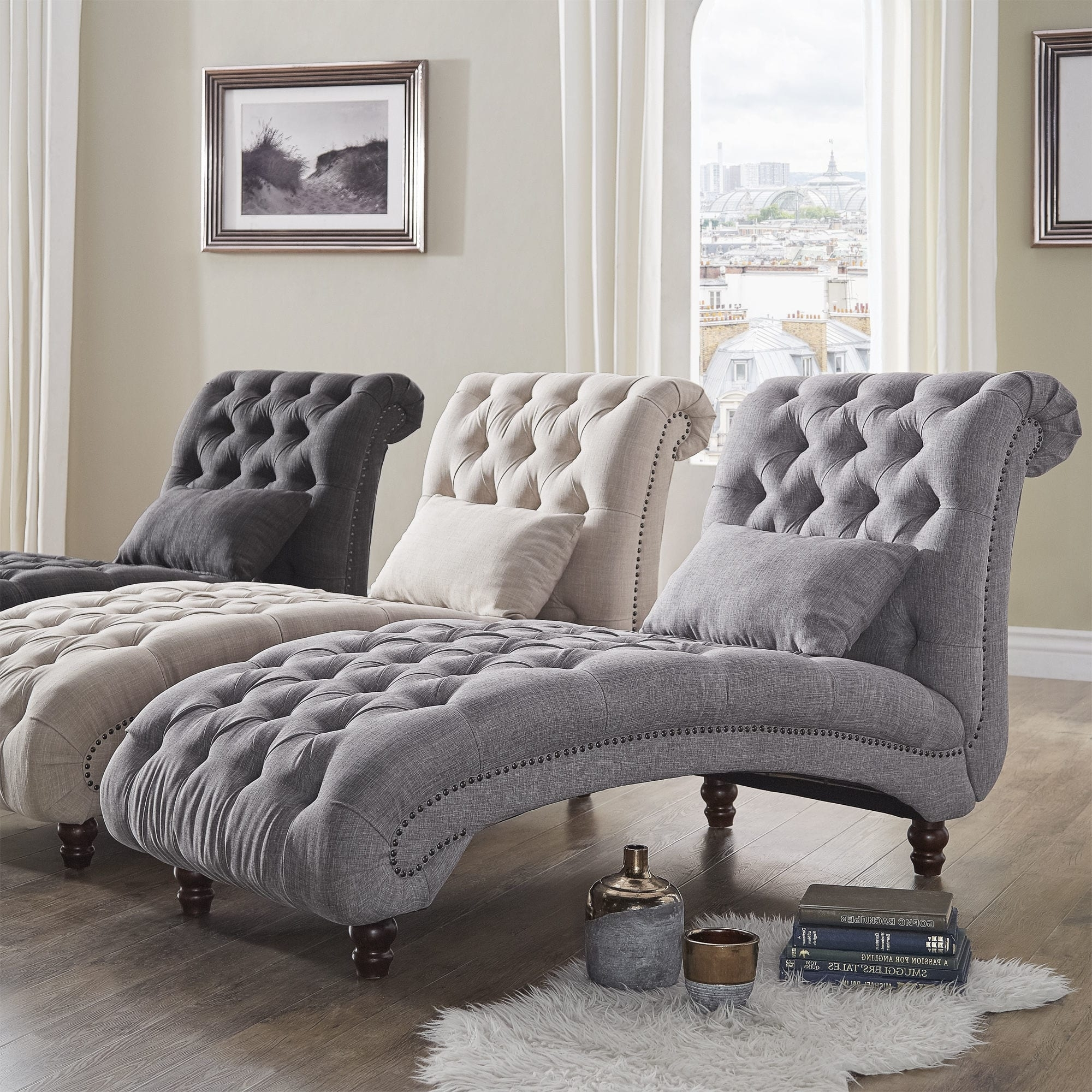 Favorite Knightsbridge Tufted Oversized Chaise Loungeinspire Q Artisan With Oversized Chaise Lounges (View 2 of 15)