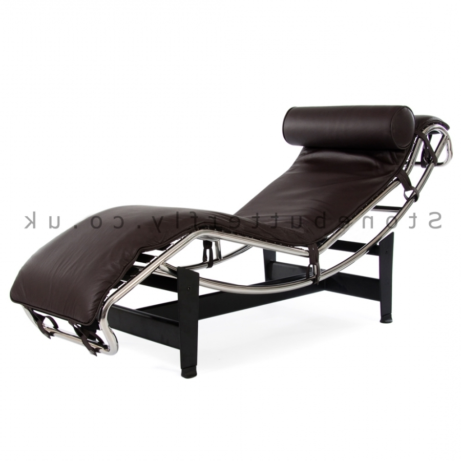 Favorite Le Corbusier Lc4 Chaise Lounge – Brown Leather With Regard To Brown Chaise Lounge Chair By Le Corbusier (View 4 of 15)