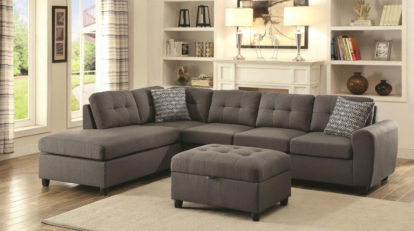 Favorite Microfiber Sectional Sofas With Chaise Intended For Home Decor: Wonderful Grey Microfiber Sectional Sofa & Furniture (View 10 of 15)