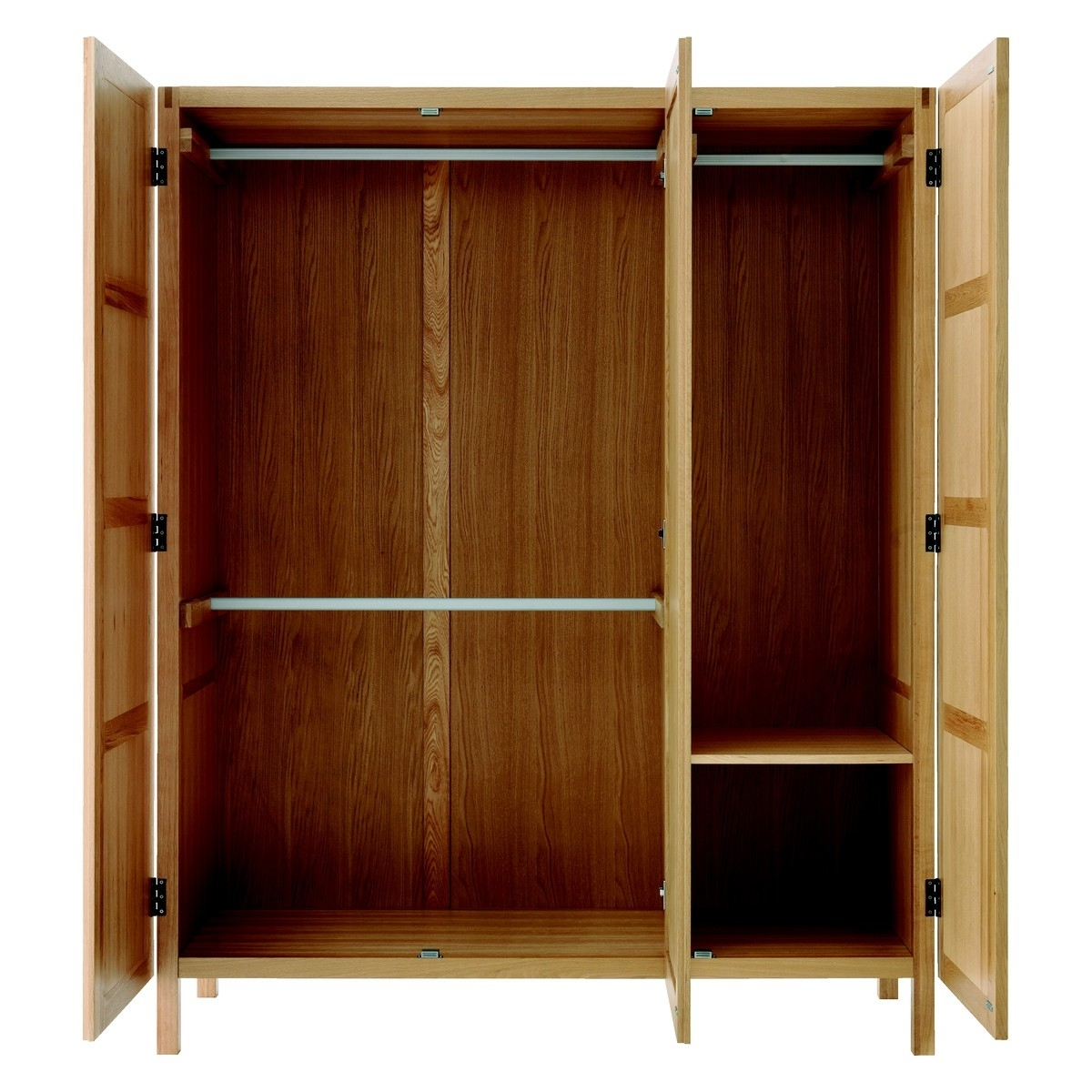 Favorite Oak 3 Door Wardrobes Within Radius Oak 3 Door Wardrobe With Full Length Mirror (View 5 of 15)