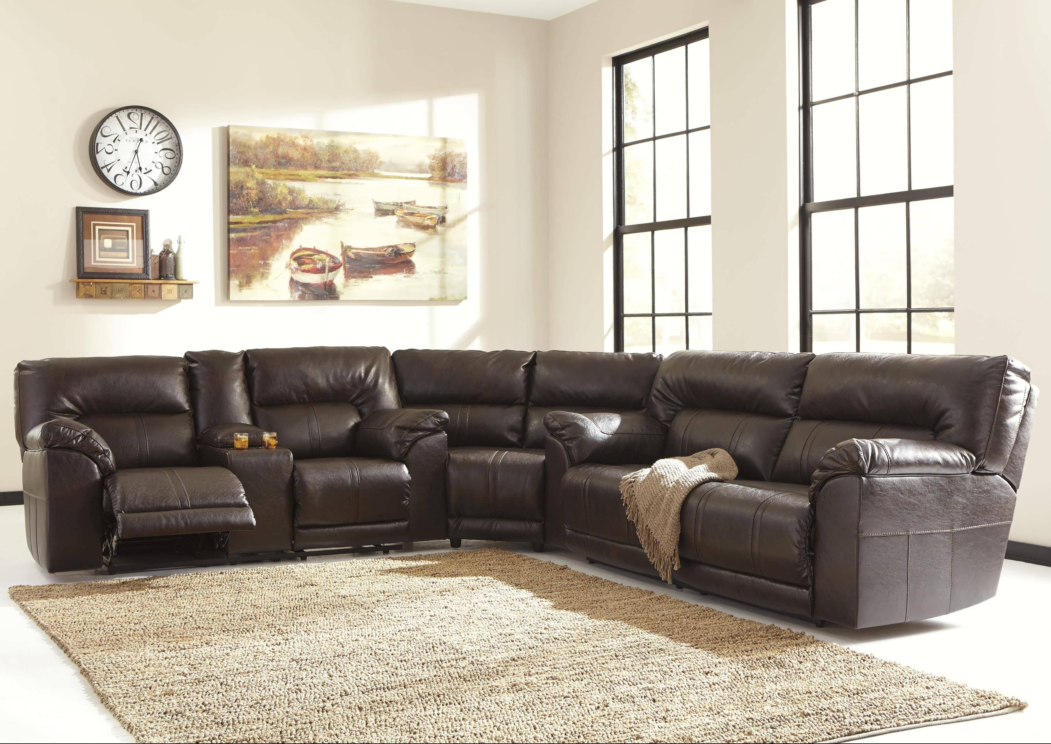 Favorite Sofa : Oversized Sectionals Gray Sectional Leather Sectional Sofa Intended For Genuine Leather Sectionals With Chaise (View 4 of 15)