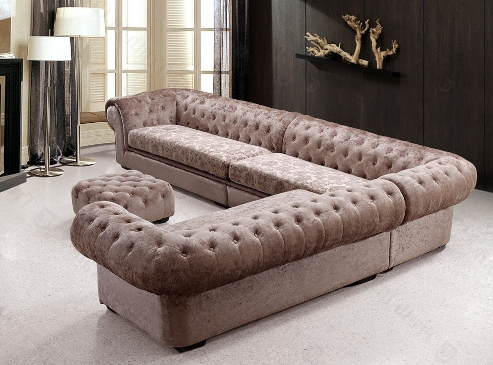 Favorite Tufted Sectional Sofas With Chaise Intended For Tufted Sectional Sofa Chaise — Fabrizio Design : Tufted Sectional (View 3 of 10)