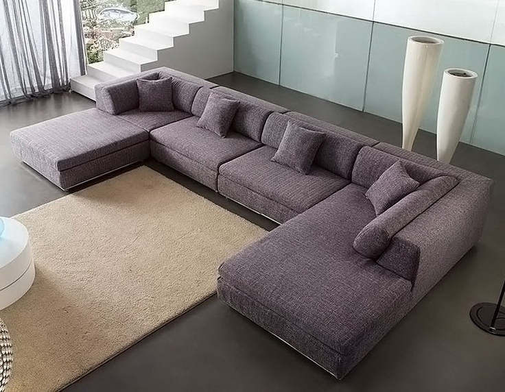 Favorite U Shaped Sectionals For U Shaped Sectional Sofas With Chaise Grey Color All About House (View 3 of 10)