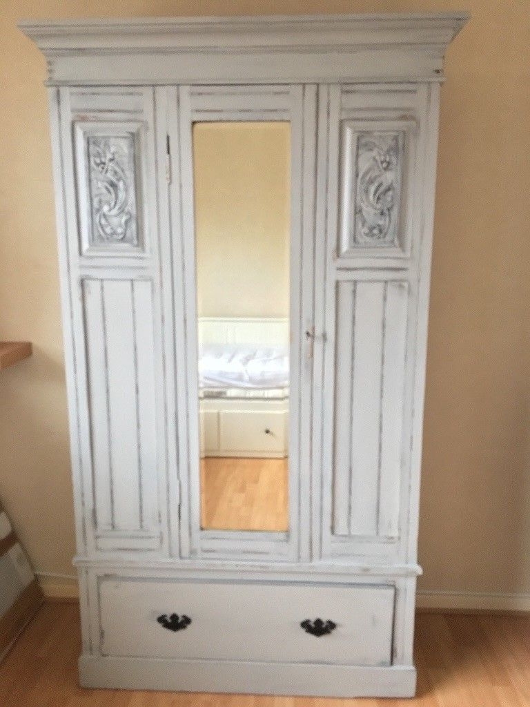 Favorite Vintage Shabby Chic Wardrobes For Wooden French Style Vintage/shabby Chic Wardrobe (View 2 of 15)