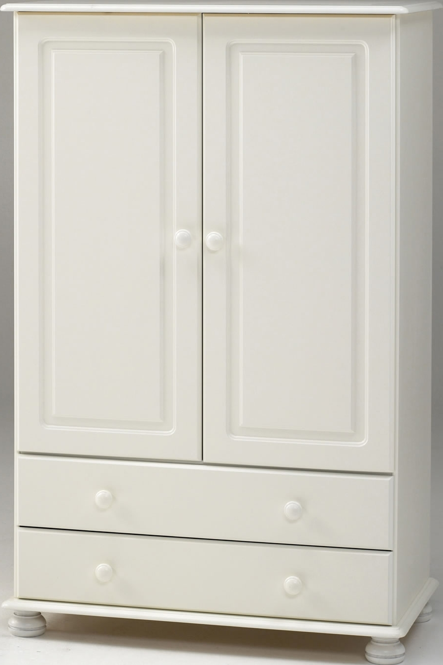 Favorite White 2 Door Wardrobes With Drawers Throughout White 2 Door Wardrobe – Steens Richmond (View 5 of 15)