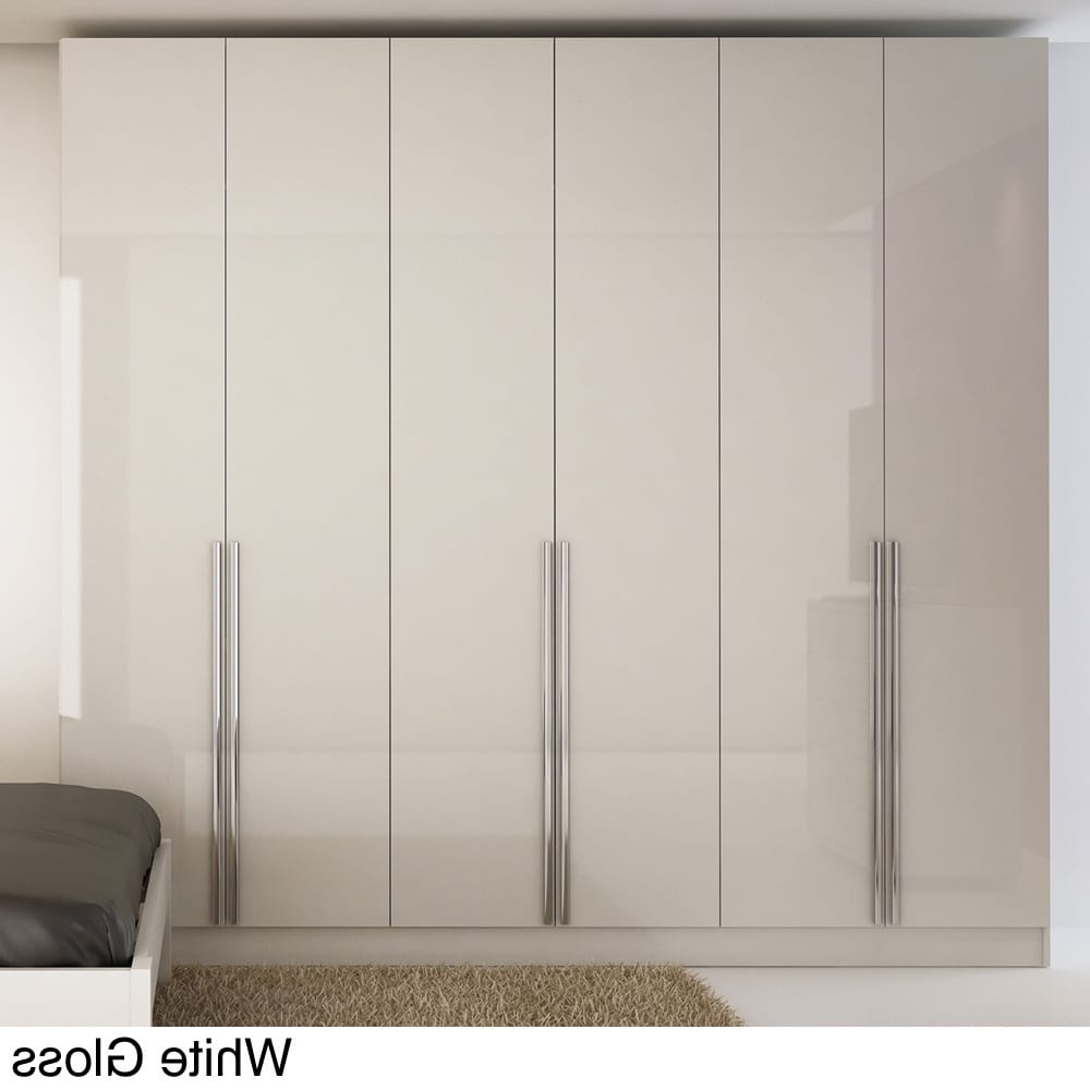 Favorite White Gloss Wardrobes Intended For 6 Door Wardrobe – Free Shipping Today – Overstock – (View 12 of 15)