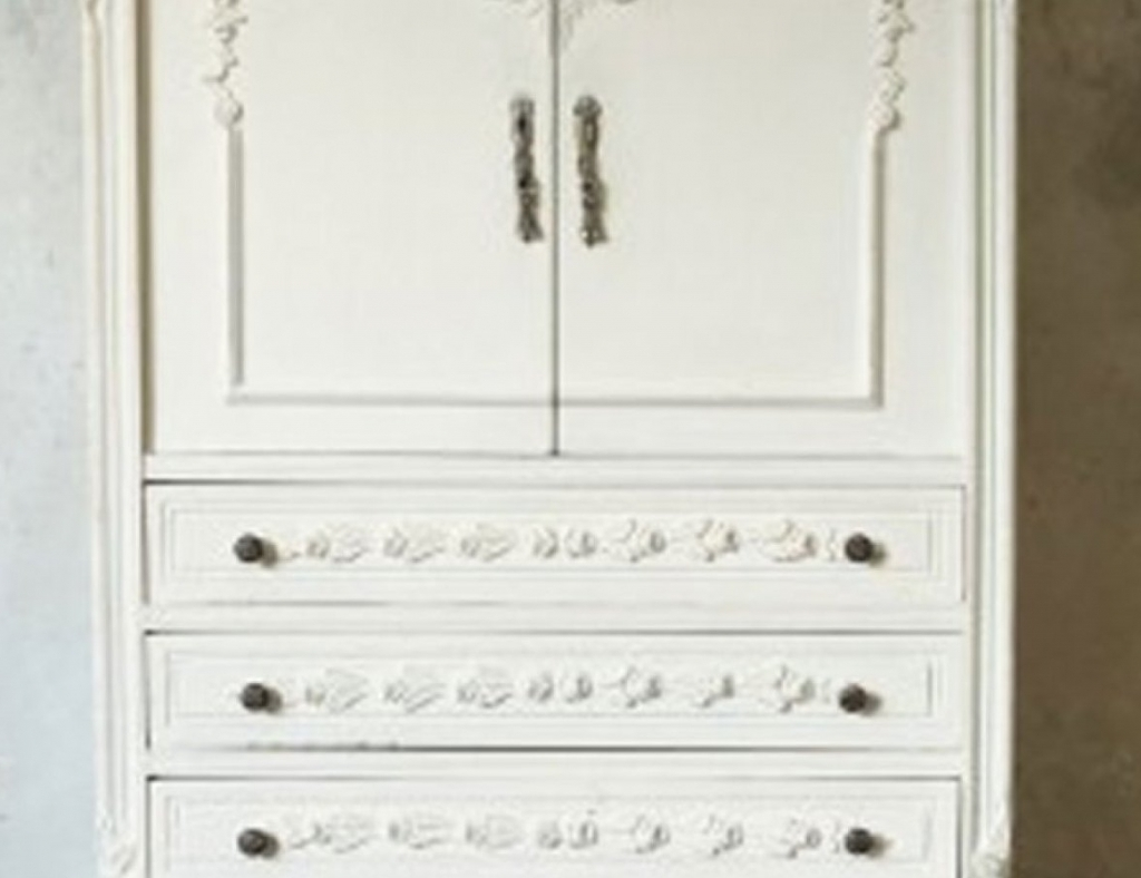 Favorite White Wicker Wardrobes For Armoire White Vintage Armoire Satiating White Wicker Armoire For (View 3 of 15)