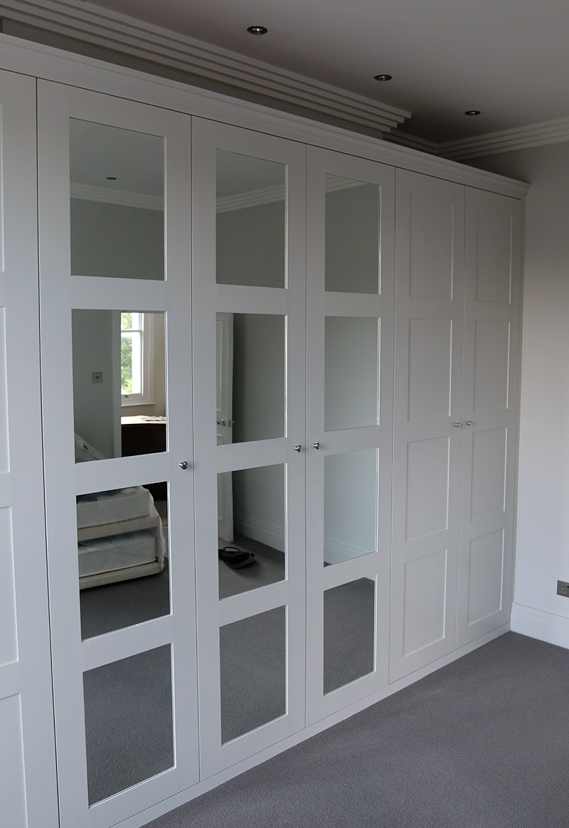 Fitted Wardrobe With Shaker Mirror Doors (View 13 of 15)