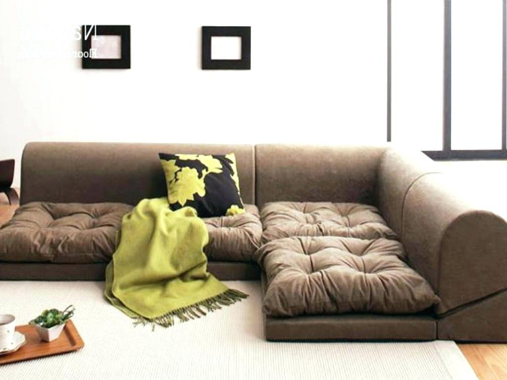 Floor Cushion Sofas In Trendy Inspirational Floor Cushion Couch For Floor Seating Furniture (View 4 of 10)