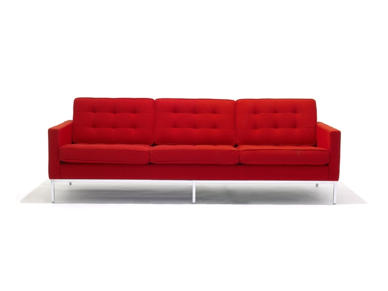 Florence Knoll 3 Seater Sofas For Most Current Buy The Knoll Studio Knoll Florence Knoll Three Seater Sofa At (View 1 of 10)