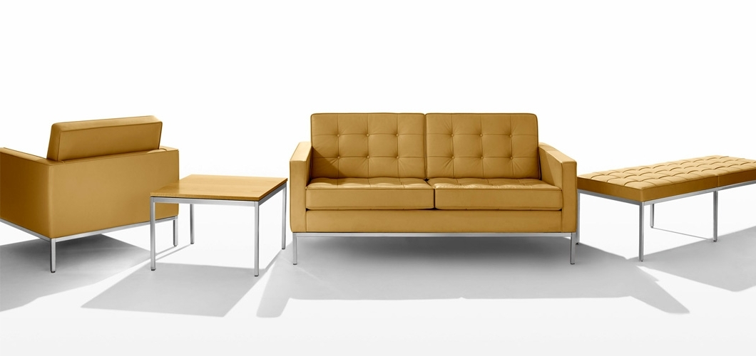 "Florence Knoll Fabric Sofas With Well Known Florence Knoll Coffee Table – 45"" X 22"" (View 5 of 10)"