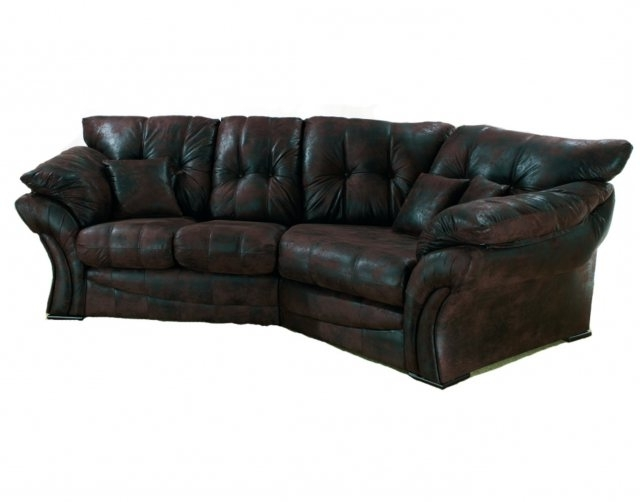 Florence Leather Look Fabric Snuggle Sofa Left Hand Facing Within Well Known Snuggle Sofas (View 4 of 10)