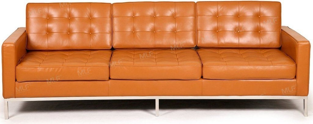 Florence Leather Sofas Throughout Popular Mlf Florence Knoll Style Couches And Sofas Armchair Loveseat (View 6 of 10)