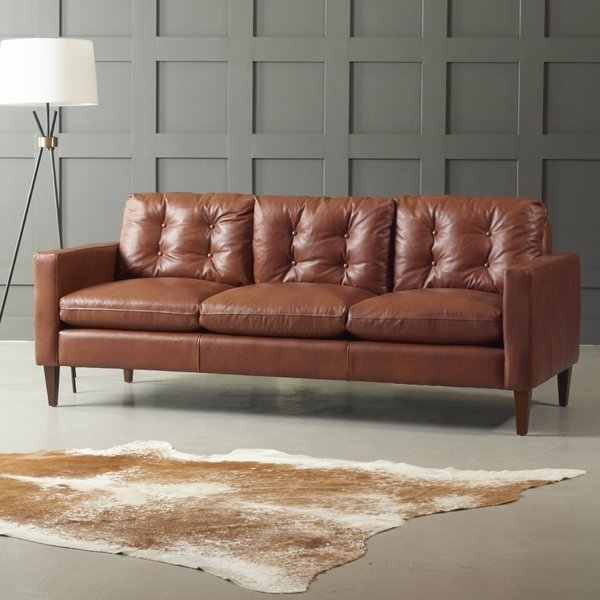 Florence Medium Sofas With Newest Dwellstudio Leather Sofa & Reviews (View 5 of 10)