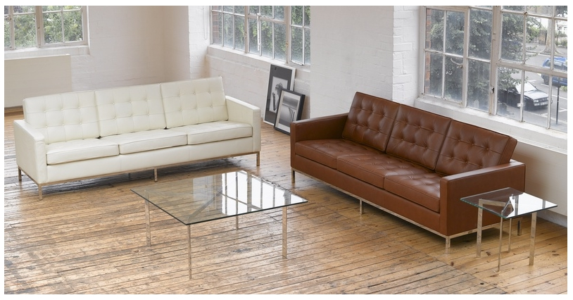 Florence Sofas Throughout Newest Florence Sofa, Cream White Premium Leather (View 5 of 10)