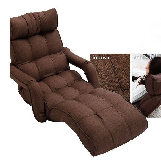 Fold Up Sofa Chairs In Trendy Floor Foldable Chaise Lounge Chair 6 Color Adjustable Recliner (View 6 of 10)