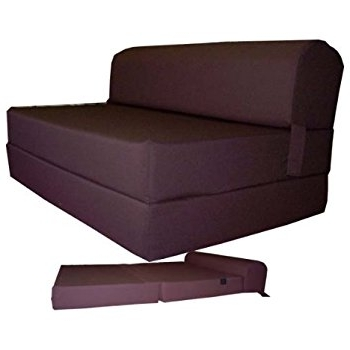 "Fold Up Sofa Chairs Throughout Trendy Amazon: Brown Sleeper Chair Folding Foam Bed Sized 6"" Thick X (View 5 of 10)"