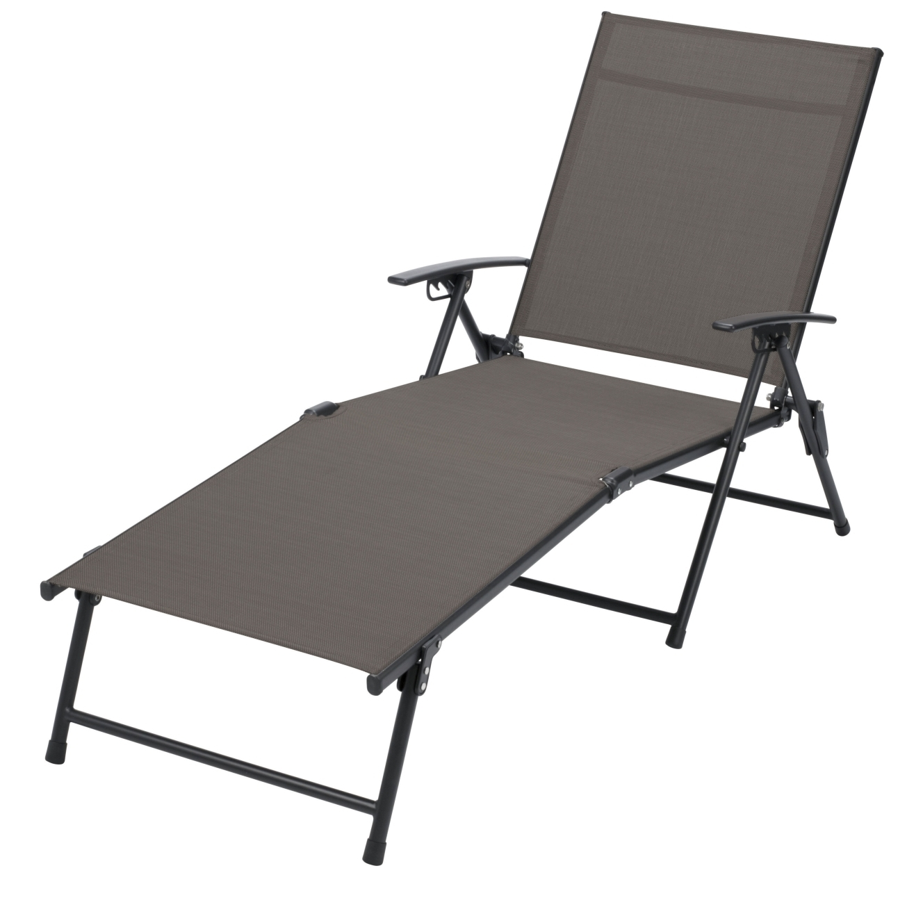 Folding Chaise Lounge Lawn Chairs Intended For Popular Inspirations: Tri Fold Beach Chair (View 12 of 15)