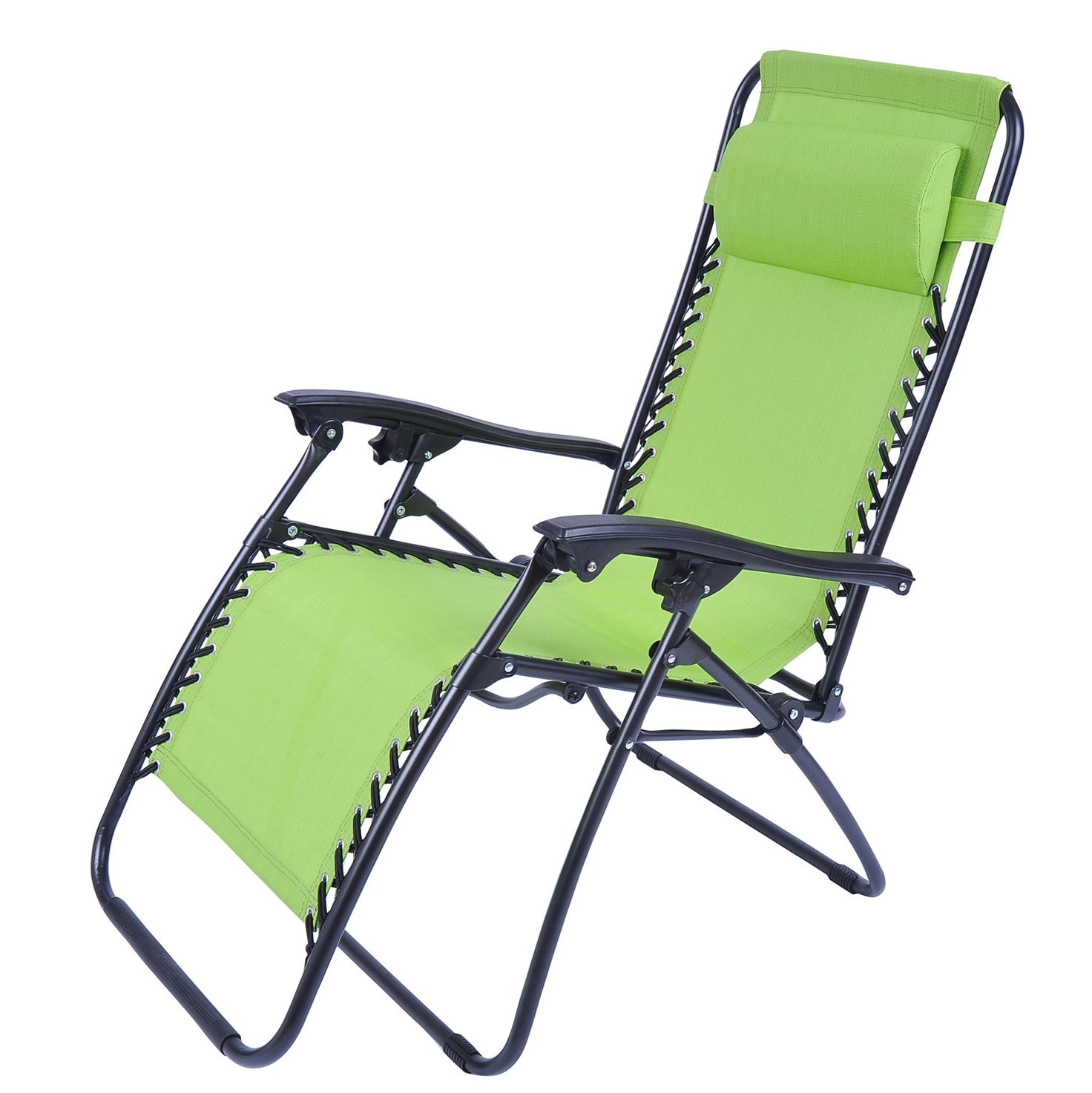 Folding Chaise Lounge Lawn Chairs Regarding Most Up To Date Folding Chaise Lounge Chair Patio Outdoor Pool Beach Lawn Recliner (View 2 of 15)
