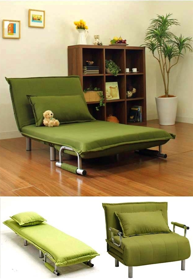 Folding Sofa Chairs Throughout Well Liked Folding Sofas, Beds And Chaise Lounges For Small Spaces (View 3 of 10)
