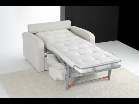 Folding Sofa Chairs With Most Recent Sleeper Chair : Sleeper Chair Folding Foam Bed (View 4 of 10)