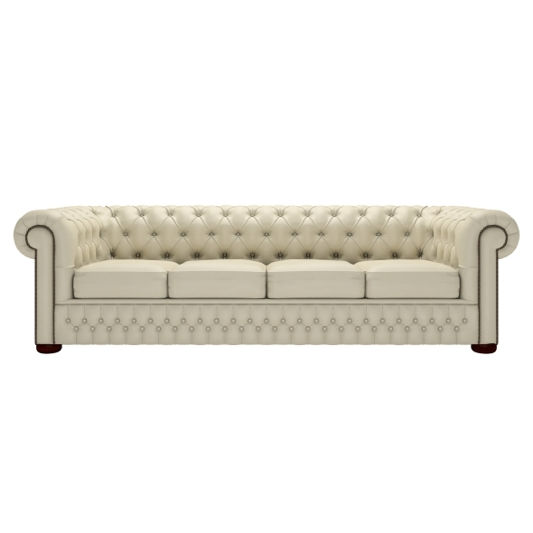 Four Seater Sofas With Regard To Most Popular Classic Chesterfield Four Seater Sofa (View 4 of 10)