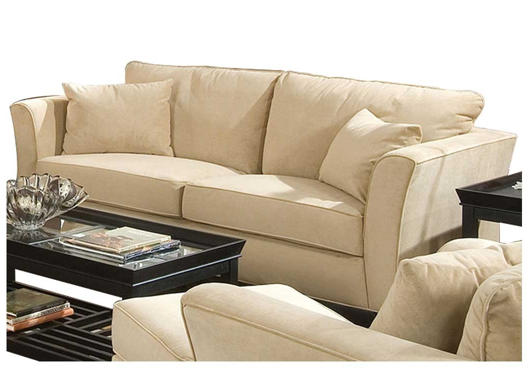 Fraley's Furniture Gallery Park Place Cream & Cappuccino Durable Within Newest Cream Colored Sofas (View 3 of 10)