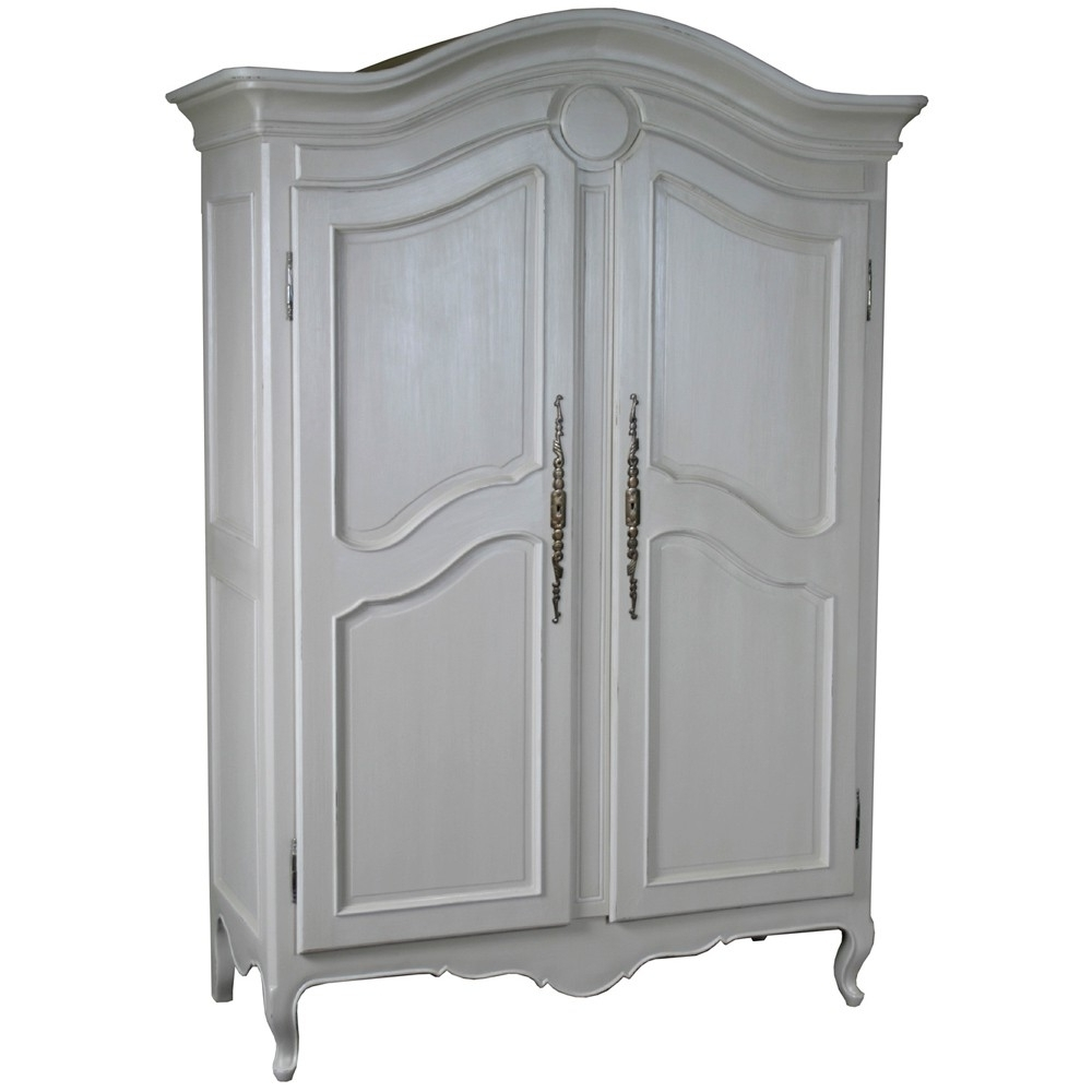 French Armoires Wardrobes Regarding Widely Used Louis French Carved 2 Door Armoire (View 6 of 15)