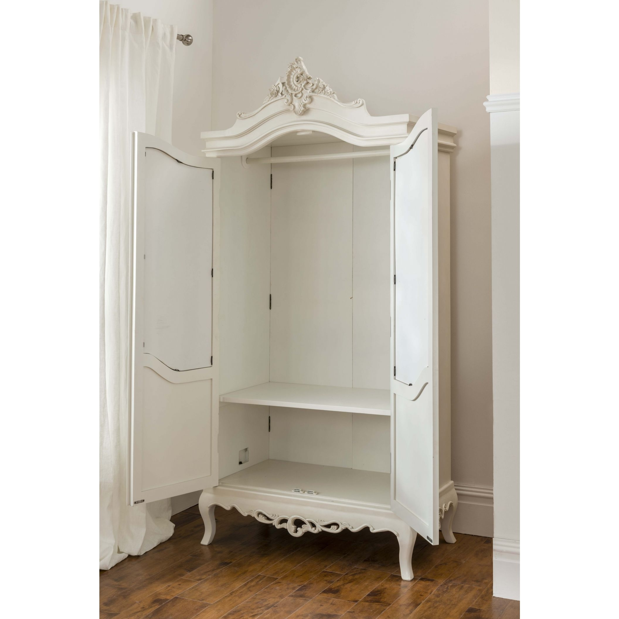 French Style White Wardrobes Inside Famous Annaelle Antique French Wardrobe (View 2 of 15)