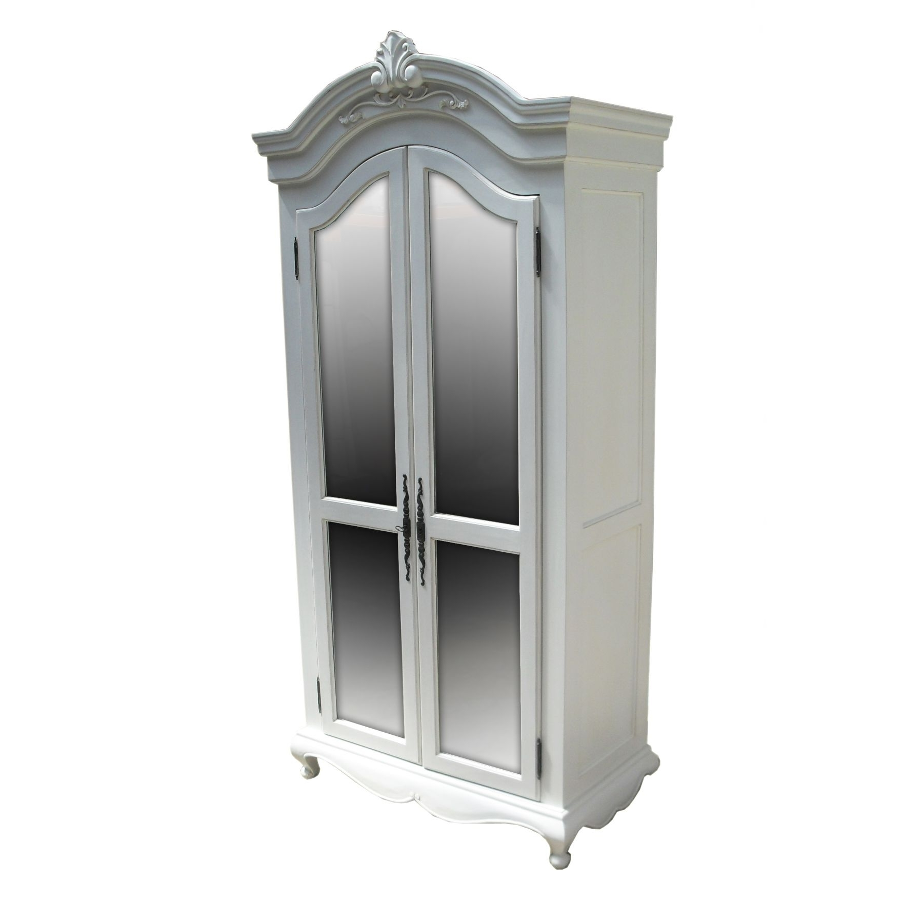 French Wardrobes White Armoire — Entrestl Decors : Elegant White With Favorite Black French Wardrobes (View 9 of 15)