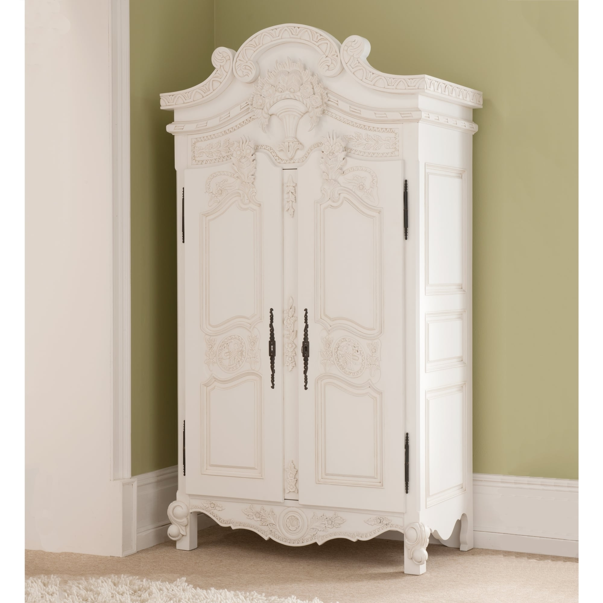 French White Wardrobes Regarding Recent Rococo Antique French Wardrobe A Stunning Addition To Our Shabby (View 8 of 15)