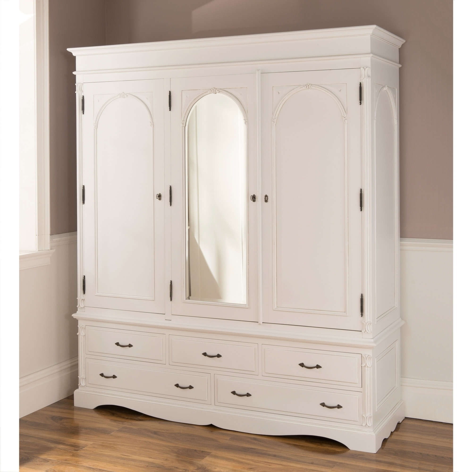 French White Wardrobes Regarding Well Liked Antique French Style Wardrobe (View 9 of 15)
