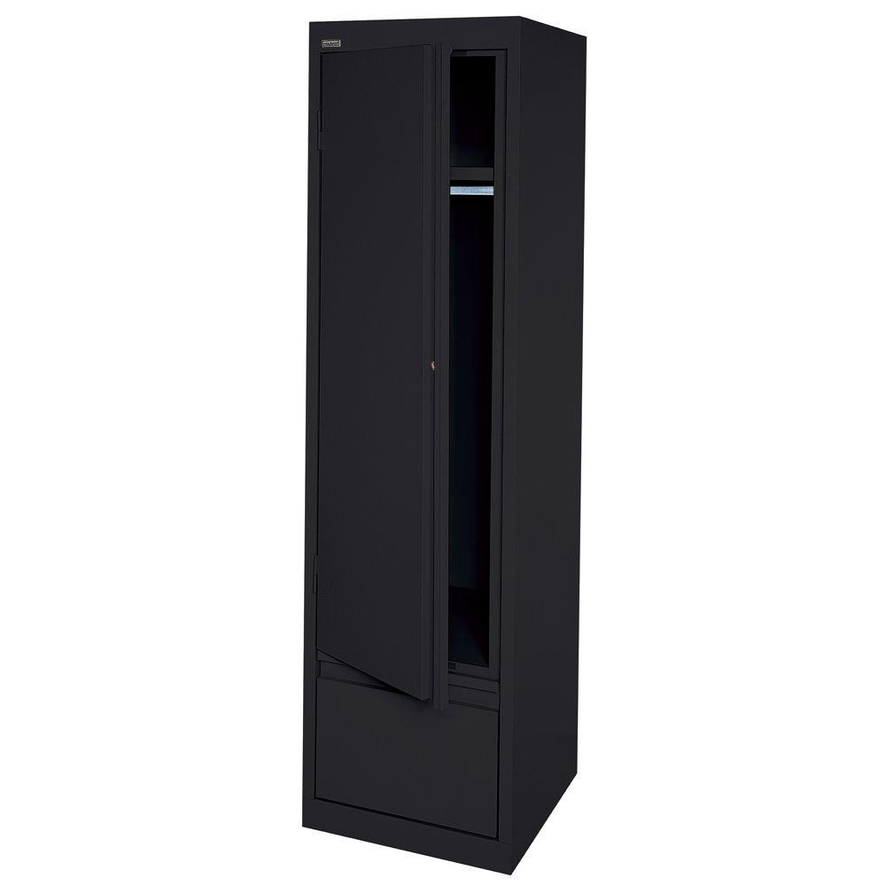 Fresh Black Single Door Wardrobe – Badotcom Intended For Latest Black Single Door Wardrobes (View 10 of 15)